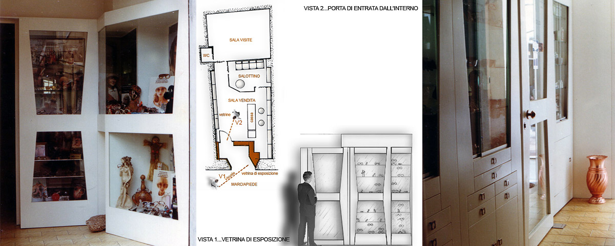 Progetto negozio ottica frosinone gg progetti for Negozio di arredamento d interni