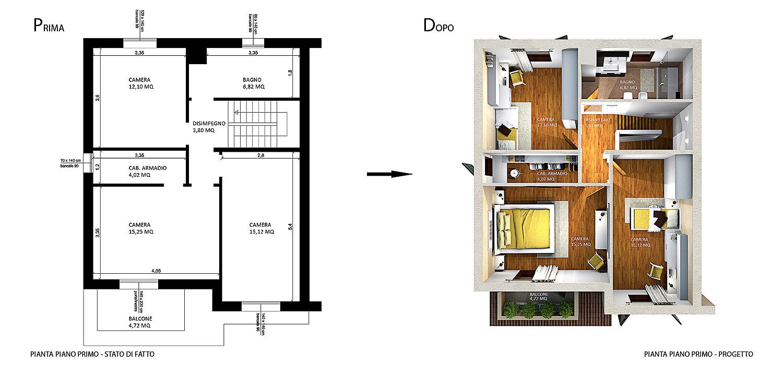 Progettazione interni villa gg progetti for Progettazioni interni