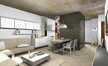 progettazione interni villa