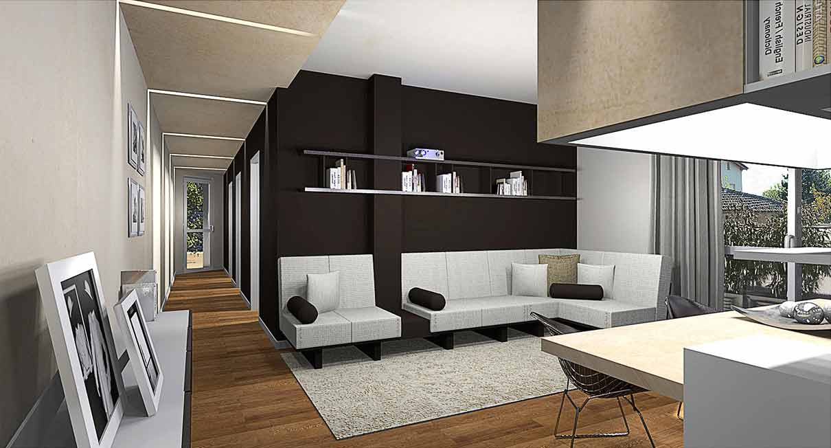 Progettazione arredo appartamenti gg progetti for Arredamento interni bologna