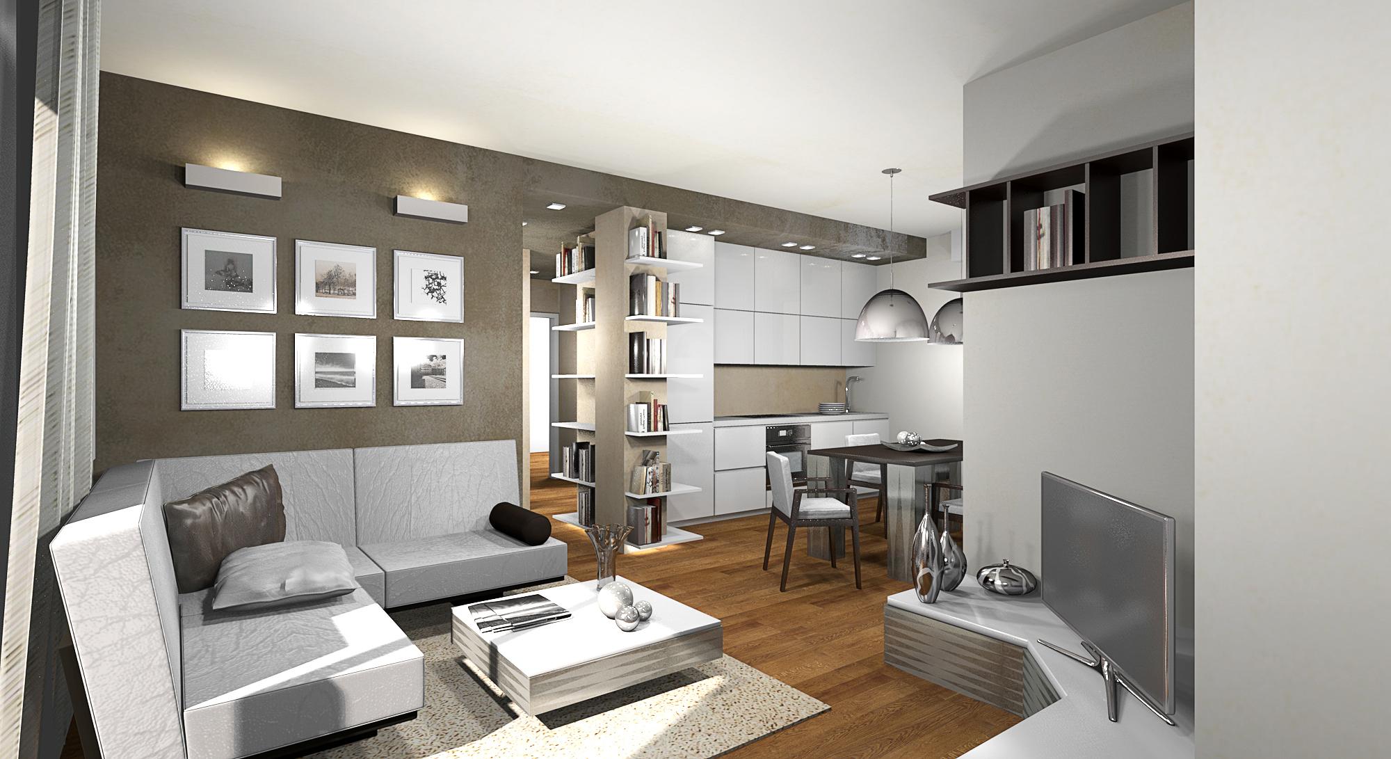 Arredare appartamento idea creativa della casa e dell for Arredamento bilocale moderno