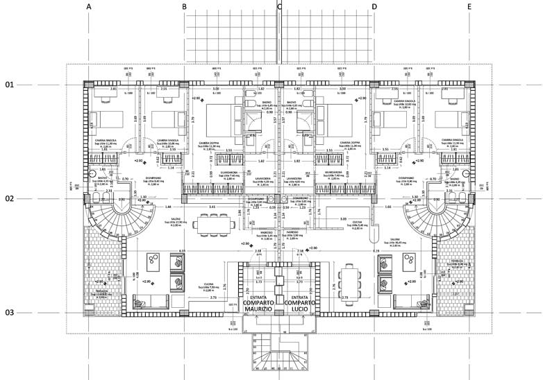 Due ville con giardino cassino gg progetti for Progetti di ville