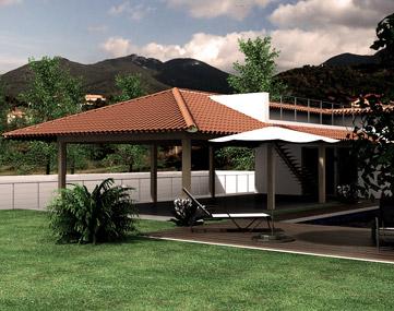 progetto villa piscina