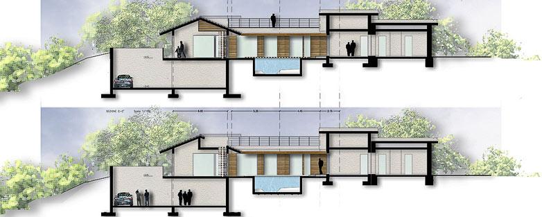 Progetti giardino per villette n progetto villetta with for Progetti di piscine e pool house