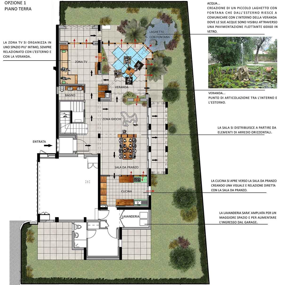 Progettazione villa a dubai gg progetti for Progettazione spazi interni