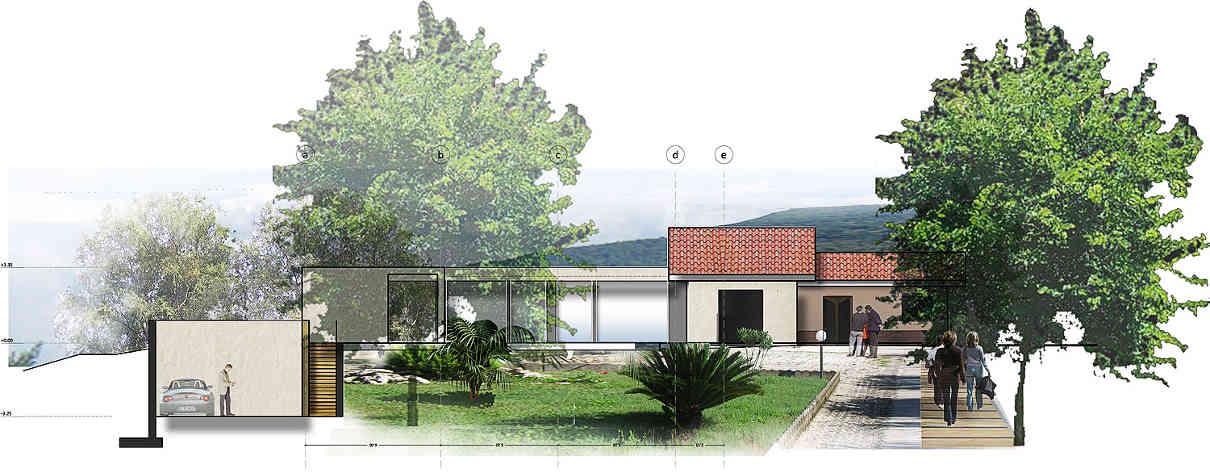 Villa con giardino e piscina gg progetti for Progetti di piscine e pool house